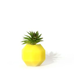 Rombi aromatic vase - yellow