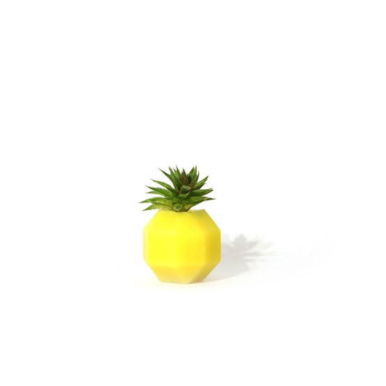Rombi aromatic vase - yellow - Design : Hugi.r