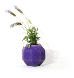 Rombi aromatic vase - purple