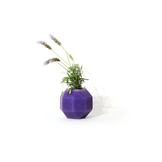 Rombi aromatic vase - purple - Design : Hugi.r