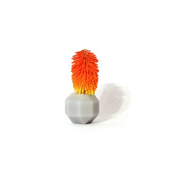 Rombi aromatic vase - grey - Design : Hugi.r
