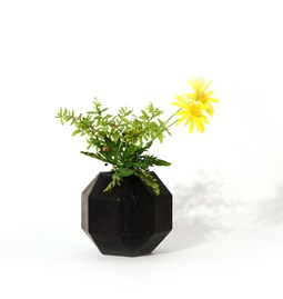 Rombi aromatic vase - black