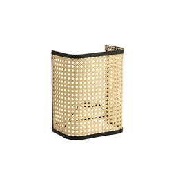 Wall light in cannage - black
