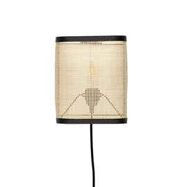 Wall light in small cannage - black