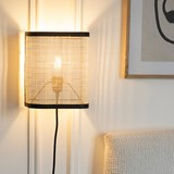 Wall light in small cannage - black 3