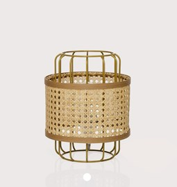 Portable lamp in cannage - natural
