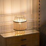 Portable lamp in cannage - natural 4