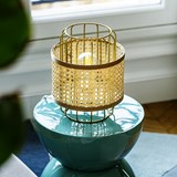 Portable lamp in cannage - natural 5