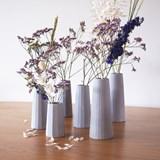 Faceted soliflore vase - Concrete  4