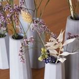 Faceted soliflore vase - Concrete  5