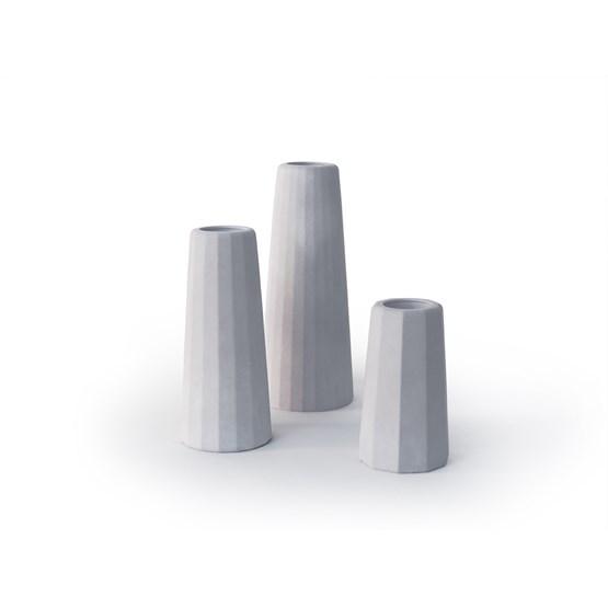 Trio de vases soliflores Facette - Design : Gone's