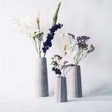 Trio de vases soliflores Facette 2