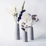 Faceted soliflore vase - Concrete  2