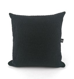 Coussin Quilted Wool Dark Grey