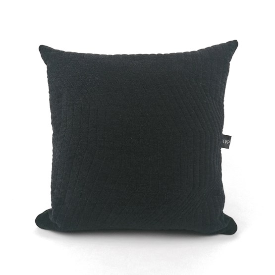 Quilted Wool Dark Grey Cushion - Design : KVP - Textile Design