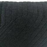 Quilted Wool Dark Grey Cushion 5