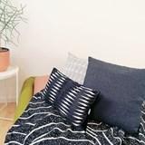 Quilted Wool Dark Grey Cushion 6