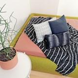 Quilted Wool Dark Grey Cushion 7