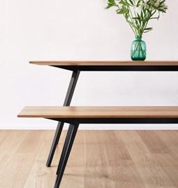 KNIKKE dining table - white fir