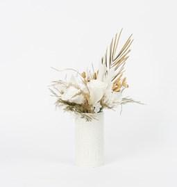 """Petit pot rond blanc """"Peacock"""""""