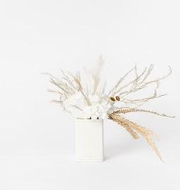 Petit pot Peacock square - white
