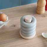 Egg cup BOUEE- concrete and wood  6