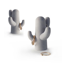Cactus jewelry-holder duo - concrete