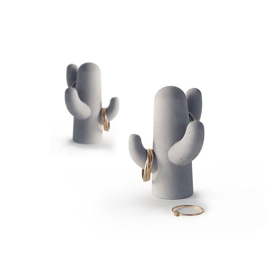 Duo porte-bijoux Cactus - béton - Design : Gone's