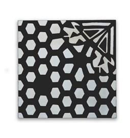 Carreau de ciment N°01 - Noir