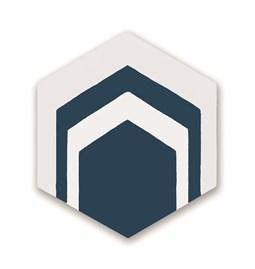Hexagone de ciment N°08 - Bleu