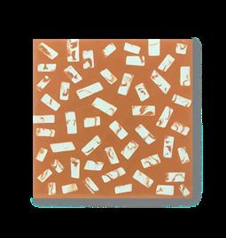 Carreau de ciment N°33 - Orange