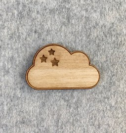 Pin's Nuage - Wood