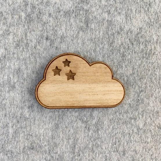 Pin's Nuage - Wood - Design : Les petites hirondelles