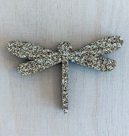 Golden Dragonfly Pin - Glitter felt