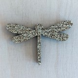 Golden Dragonfly Pin - Glitter felt 2