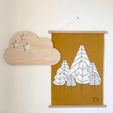 Wall decoration Nuage étoilé - Wood 5