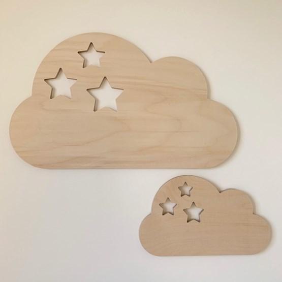 Wall decoration Nuage étoilé - Wood - Design : Les petites hirondelles