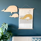 Whale wall decoration - Wood 5