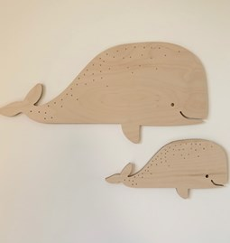 Whale wall decoration - Wood