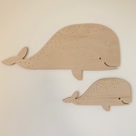 Whale wall decoration - Wood - Design : Les petites hirondelles