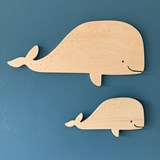 Whale wall decoration - Wood 4