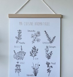 Ma cuisine aromatique poster - Paper