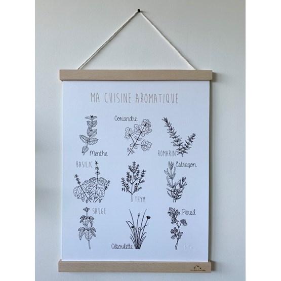 Affiche Ma cuisine aromatique - Papier - Design : Les petites hirondelles