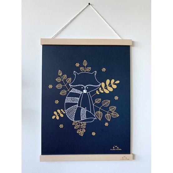 Affiche Le raton-laveur - Papier - Design : Les petites hirondelles