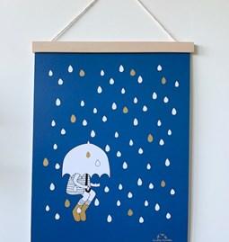 Affiche Sous la pluie - Papier