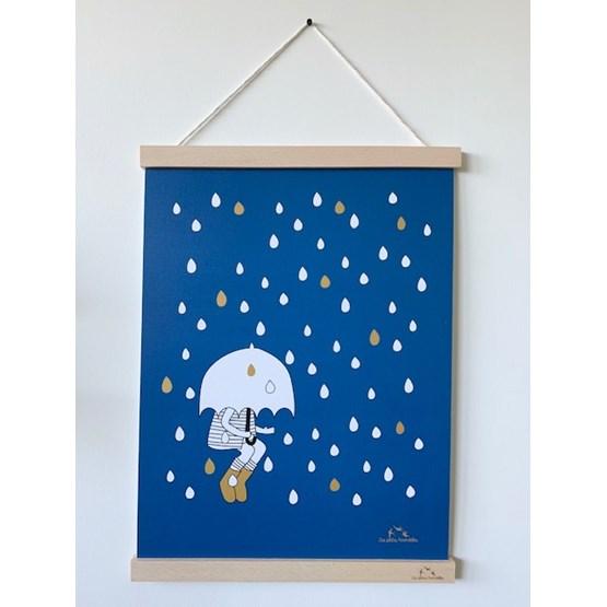 Affiche Sous la pluie - Papier - Design : Les petites hirondelles