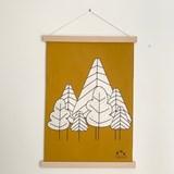 Tenture La forêt - Coton 2