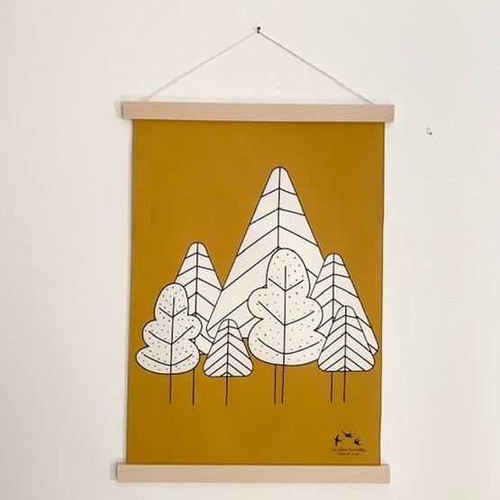 Tenture La forêt - Coton - Design : Les petites hirondelles