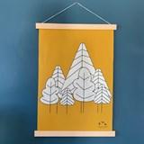 Tenture La forêt - Coton 5