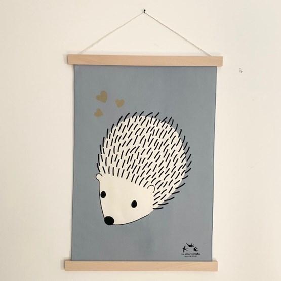 Tenture Le hérisson amoureux - Coton - Design : Les petites hirondelles